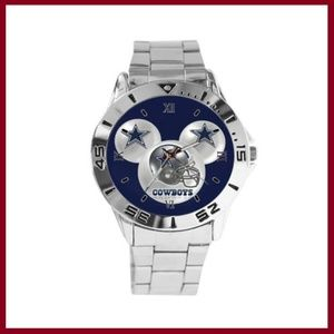 Dallas Cowboys/Mickey Ears Stainless Steel Watch